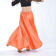 New Belly Dance Costumes Satin Long Skirt Swing Skirt 14 Colors