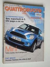 QUATTRORUOTE // NOVEMBRE 2006  N. 613 // NUOVA MINI // FIAT BRAVO