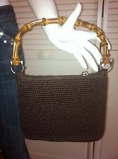 Chocolate Brown Bamboo Handle & Zipper Pull THE SAK Ready 4 Spring  PURSE Mint