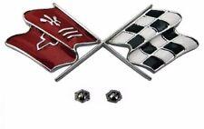 69-73 Corvette Fuel Door Emblem. NEW Quality Reproduction of Original W/nuts