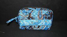 STEPHANIE DAWN MOCHA PAISLEY SMALL COSMETIC BAG PURSE ~ MINT NEW WITH TAG