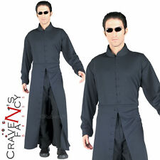 Mens Adult Official Neo Matrix Fancy Dress CostumeTrench Coat & Shades Outfit