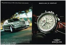 Publicité Advertising 2006 (2 pages) La Montre Breitling Bentley 6.75