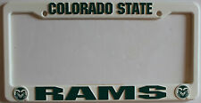 Colorado State football team Rams License Plastic College White Frame Licensed