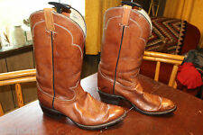 TALL VINTAGE TONY LAMA LEATHER MENS COWBOY BOOTS SIZE 11.5 D
