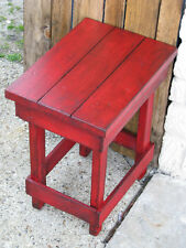 Medium RED End Table, Side Table, Nightstand