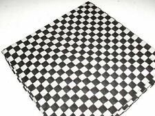 NEW WHITE & BLACK CHEQUERED BANDANA HEAD/NECK SCARF/FLAG CHEF SCARF BIKER COOK