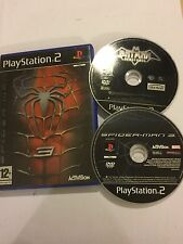 2 X PLAYSTATION 2 ps2 GIOCHI DC BATMAN Vengeance + SPIDER-MAN 3/Spiderman III