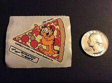 Vintage 80s Scratch and Sniff Stickers - Garfield - Pizza - Strong Scent
