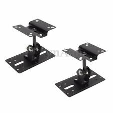 2PCS of 15kg Steel Speaker Ceiling Wall Mount Brackets 360° Rotate Adjustable