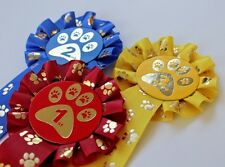 1ST-3RD PLACED ROSETTES PAW PRINT DOG SHOW