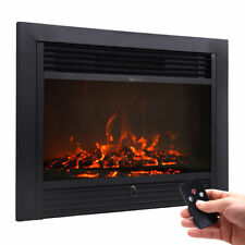 "28.5"" Embedded Electric Fireplace Insert Heater View Log Flame w/ Remote Home"