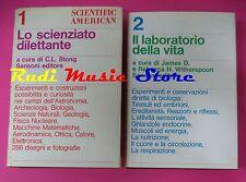 book libro LO SCIENZIATO DILETTANTE 1 IL LABORATORIO DELLA VITA 2 SANSONI(L10)