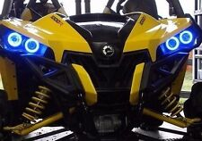 Can-Am Halo Rings headlights - angel eye set 4 Canam commander / Maverick - BLUE