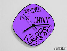 Whatever I'm Late Anyway / Oval Purple - Wall Clock