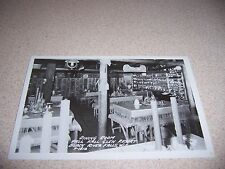 1940s DINING ROOM GLEN RESORT BLACK RIVER FALLS WISCONSIN WI. RPPC POSTCARD