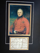 4th EARL OF HOPETOUN - BRITISH ARMY COMMANDER - SIGNED COLOUR PHOTO DISPLAY
