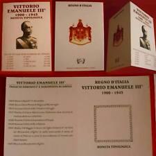 VITTORIO EMANUELE III CUSTODIA PER DESCRIZIONE TIPOLOGICA MONETE, DA COLLEZIONE