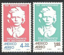 Mexico 1977 Beethoven/Composer/Music/People 2v set (n39834)