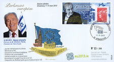 "PE635 FDC European Parliament ""Mr. Shimon PERES, Israel / Golda MEIR"" 03-2013"