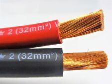 100' FT EXCELENE 2 AWG GAUGE WELDING & BATTERY CABLE 50' RED 50' BLACK USA