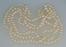 "Vintage Long Pearl Necklace Single Strand Opera Length 130cm 51"" long 60 grams"
