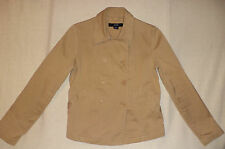 GAP LONG SLEEVE BROWN BUTTON FRONT DOUBLE BREASTED JACKET      M          K#8379