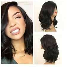 BoB Black Hair Heat Cosplay Long Wave Wigs Sexy Lady Women's Natural Wigs Party