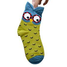 3D Animals Striped Cartoon Socks Women Owl Footprints Cotton Socks Gift LOT J1 J