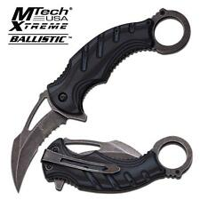 Mtech Xtreme Ballistic Series Black Karambit Spring Assisted Assist Knife A833GY