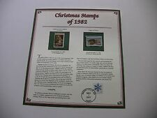 20 Cent Madonna of the Goldfinch and Puppy and Kitten 1982 Christmas Stamps
