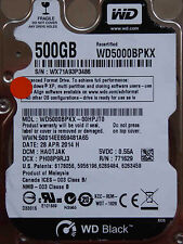 Western Digital WD5000BPKX-00HPJT0 / HA0TJAK / 28 APR 2014 - 500 GB hard disk
