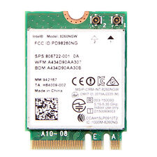 Intel Dual Band Wireless-AC 8260 (8260NGW) NGFF 867Mbps 2.4/5GHz Wifi Card