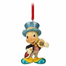 Disney Store NEW Pinocchio ''Official Conscience'' Jiminy Cricket Ornament NIB