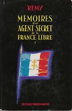 """Livre Histoire 39-45 """" Mémoires d'un Agent Secret De la..  ( Book ) ( No 404 )"""