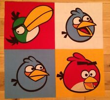 ANGRY BIRDS PATCHWORK FABRIC FQ-60cmX60cm POLYCOTTON MATERIAL-SQUARES