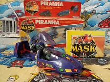 M.A.S.K BOXED 100% comp PIRANHA mask with Sly Rax Box kenner Motorbike submarine