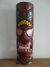 FAIR TRADE Hand Carved Wooden Tiki Mask Wall Hanging Design #11