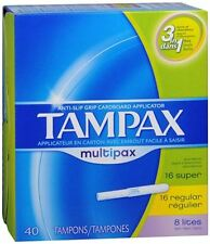 Tampax Multipax Tampons Assorted Absorbencies 40 Each