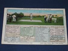 1930 Time Savers-Easy Correspondence Postcard Golfers Posted