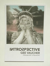 GEE VAUCHER, 'Introspective' private view invitation card, 2016