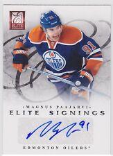 2011 11-12 Elite Signings #55 Magnus Paajarvi autograph Edmonton Oilers