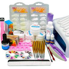 36W UV Lamp Dryer UV Builder Gel Top Coat Nail Glue File Brush Art Tips Kit