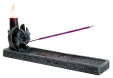 GARGOYLE INCENSE BURNER CANDLE HOLDER.GOTHIC STYLE ZEN ROOM HOME DECOR