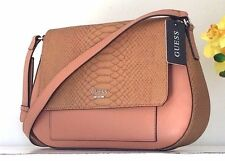 NWT GUESS Colmar Purse Faux Croc Saddle Shoulder Handbag PY651820 Crossbody $128