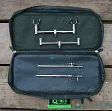 Buzz Bars Bank Sticks U Rests 2 Rod Set Up in Buzzer Bar Carry Bag Pouch