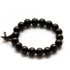 12mm Black Sandalwood Wood Beads Tibet Buddhist Prayer Bracelet Mala