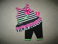 """NEW """"SNAZZY PINK BLOOM"""" Rumba Capri Girls 3-6m Spring Summer Boutique Clothes"""