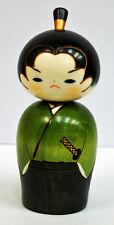 Usaburo Kokeshi Japanese Wooden Doll 8-8 Wakasamurai (Young Samurai)