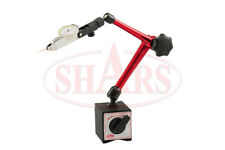 """SHARS .030"""" Travel 0.0005"""" Dial Test Indicator Universal Pro Magnetic Base NEW"""